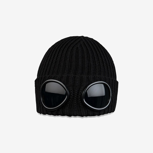 C.P. Company Goggle Beanie Hat - Black