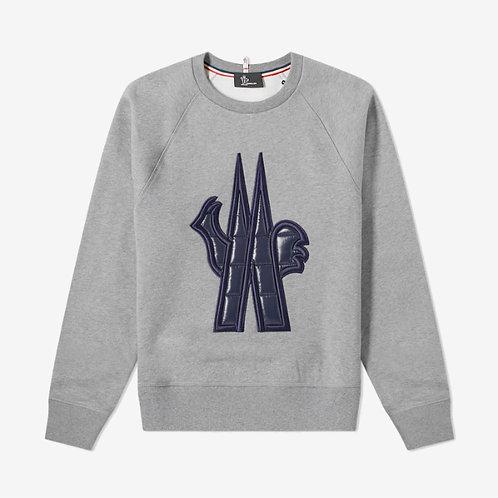 Moncler Grenoble Embroidered Padded Logo Sweatshirt - Grey