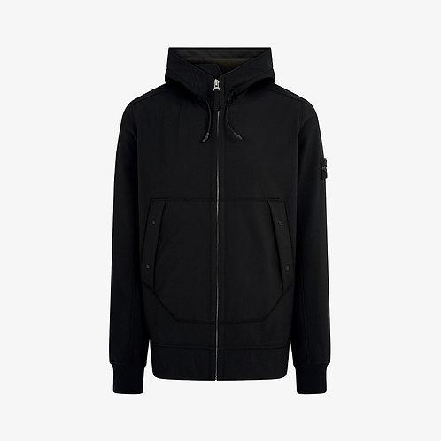 Stone Island Soft Shell-R Hooded Jacket - Black