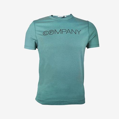 C.P. Company Circles Logo T-shirt Teal Green Front