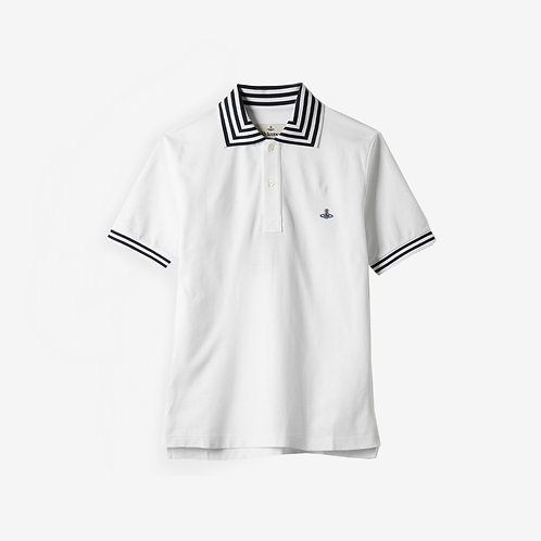 Vivienne Westwood Orb Logo Short Sleeve Polo - White