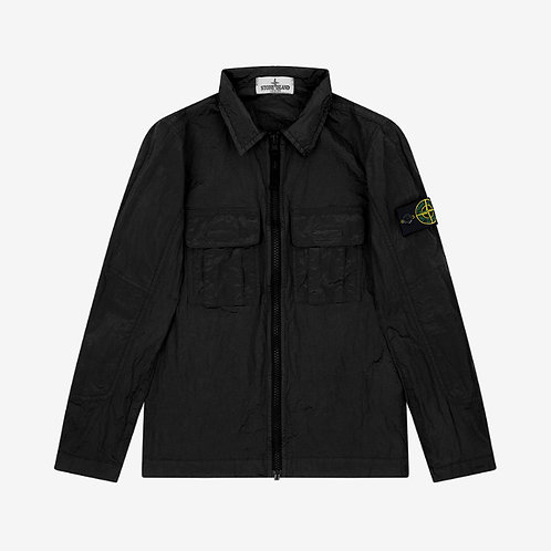 Stone Island Junior Nylon Metal Overshirt - Black
