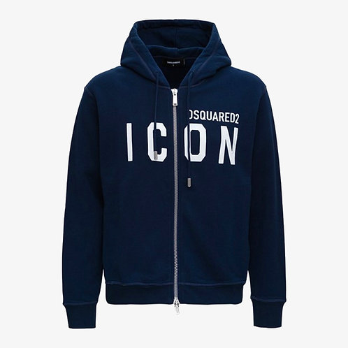 Dsquared2 Zip-Up Hooded Icon Sweatshirt - Navy