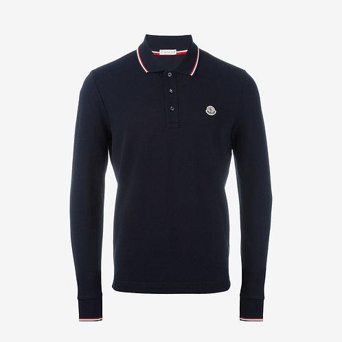 Moncler Long Sleeve Polo Shirt - Navy