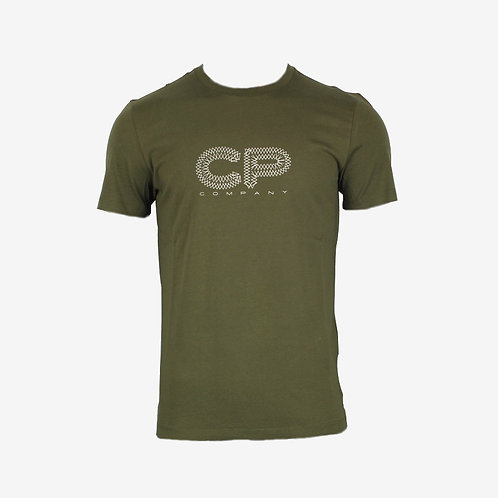 C.P. Company 30/1 Jersey Graphic Logo T-shirt Olive Spring Summer 18