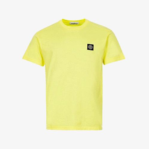 Stone Island Patch Logo T-Shirt - Lemon Yellow