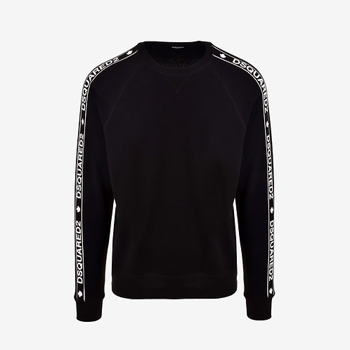Dsquared2 Logo Tape Print Sweatshirt - Black