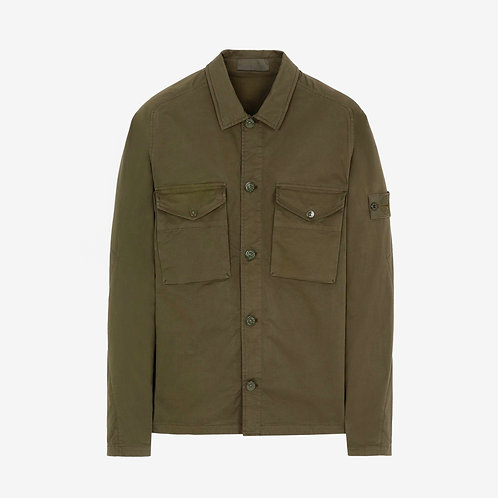 Stone Island Ghost Piece Overshirt - Military Green