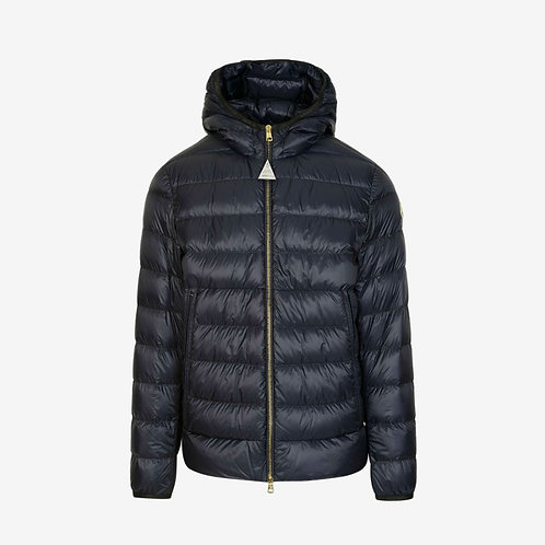 Moncler 'Emas' Hooded Padded Down Jacket - Dark Blue