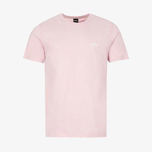 Boss Tee Curved Logo T-Shirt - Light Pink