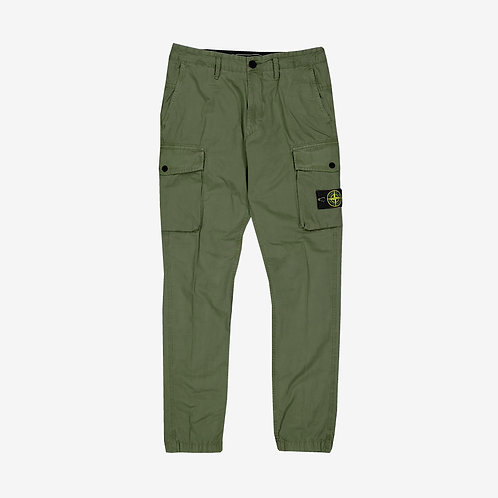Stone Island Garment-Dyed Cargo Trousers - Green