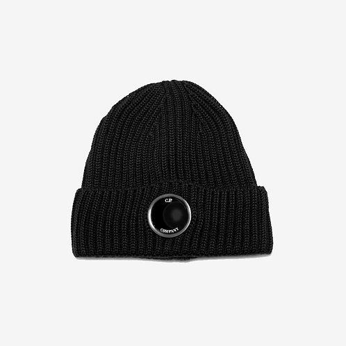C.P. Company Uni Goggle Beanie Hat - Black