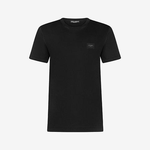 Dolce & Gabbana D&G Logo Plaque T-shirt - Black