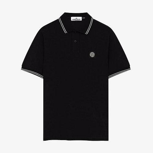 Stone Island Patch Logo Polo Shirt - Black