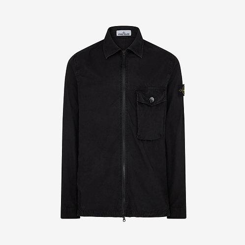 Stone Island Garment Dyed Overshirt - Black