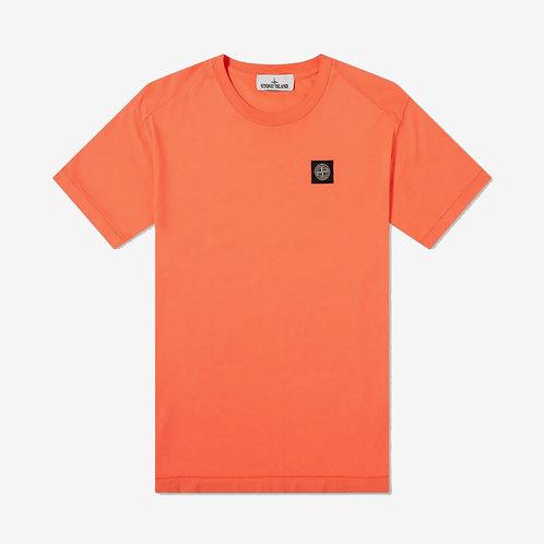 Stone Island Patch Logo T-Shirt - Orange Red