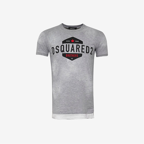 Dsquared2 Brothers T-shirt Grey New Fashion