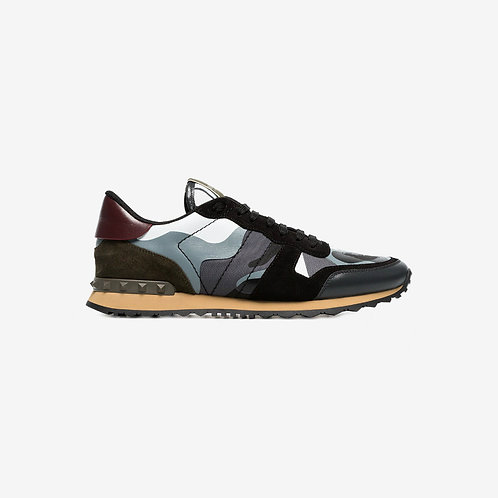 Valentino Camouflage Rockrunner Sneakers - Grey