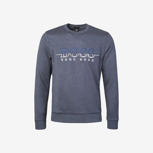 Boss Green Logo Sweatshirt - Salbo - Dark Blue/Grey