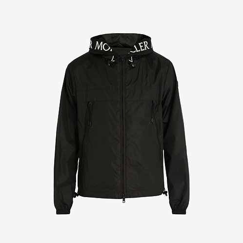 Moncler 'Massereau' Hooded Jacket with Embroidery - Black