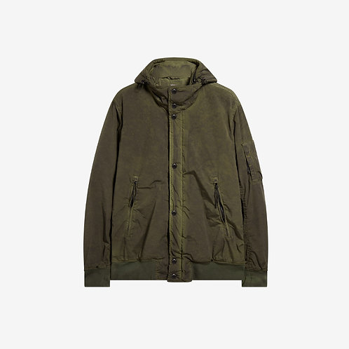 C.P. Company Nycra Re-Colour Hooded Jacket - Cloudburst Green