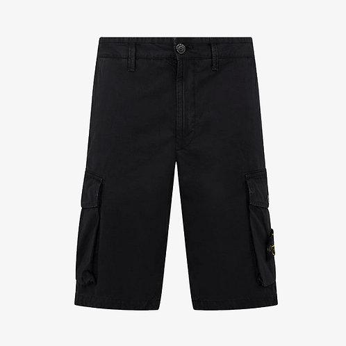 Stone Island Bermuda Cargo Shorts - Black
