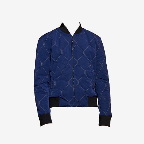 Kenzo Emerised Jacket Blue Quilted Front