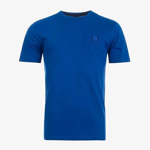 Boss 'Tales' Patch Logo T-Shirt - Blue
