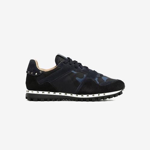Valentino Rockstud Sneakers Marine Blue Side