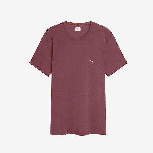 C.P. Company Logo Print Mako T-Shirt - Maroon Red