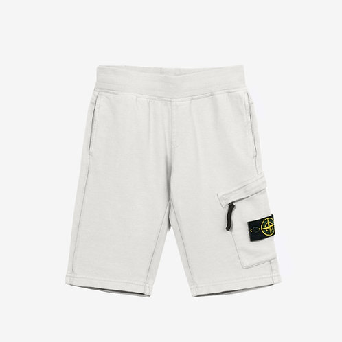 Stone Island Junior Jogger Shorts Light Grey Front