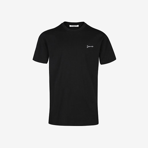 Givenchy Embroidered Signature Slim-Fit T-Shirt - Black