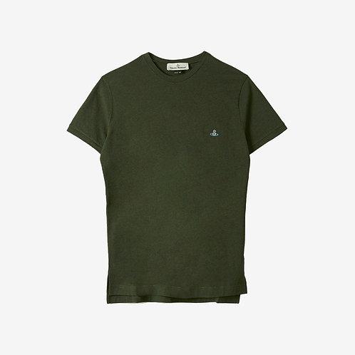 Vivienne Westwood Peru Orb Logo T-shirt - Green Melange