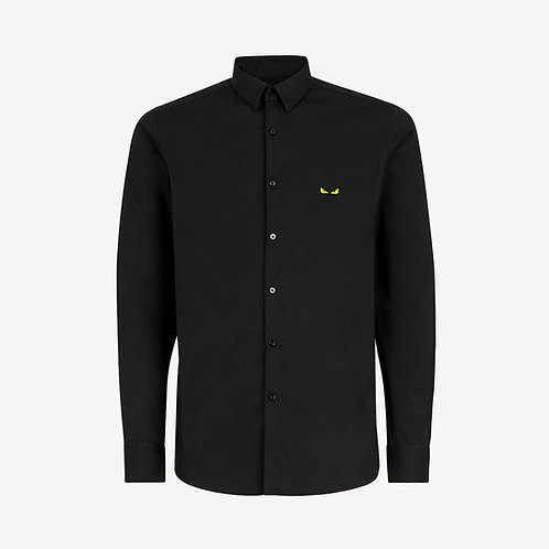 Fendi Shirt with Bag Bugs Eyes Embroidery - Black and Yellow