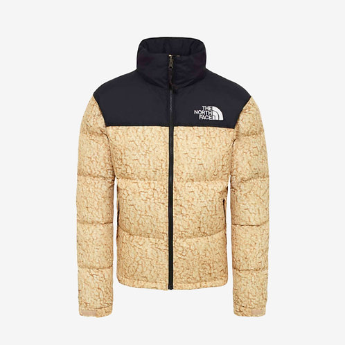 North Face 1996 Retro Nuptse Jacket - Sherpa Print Beige