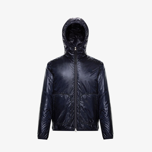 Moncler Genius 'Laufen' Hooded Down Jacket - Dark Blue