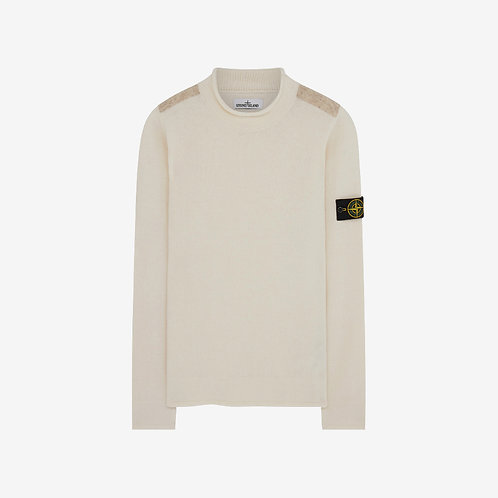 Stone Island Soft Lambswool Knit Sweater - Natural/Beige