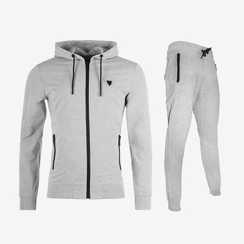 Antony Morato Contrast Tracksuit Light Melange Grey Set