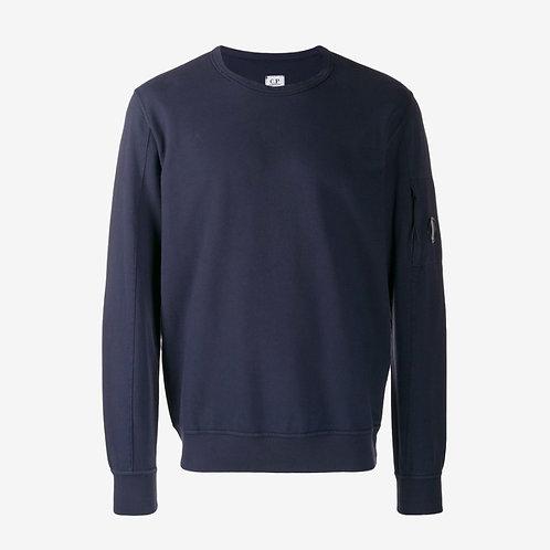 C.P. Company Garment Dyed Light Fleece Lens Sweatshirt Navy