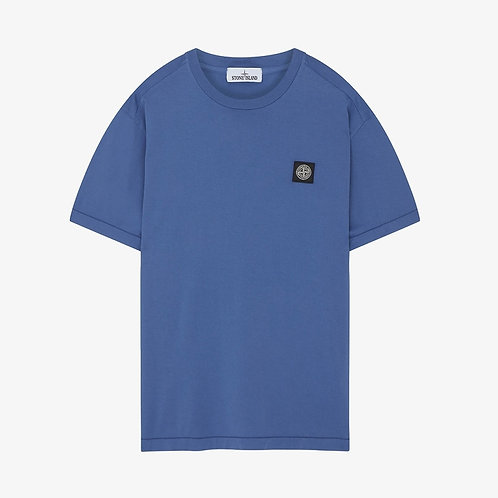 Stone Island Patch Logo T-Shirt - Periwinkle Blue