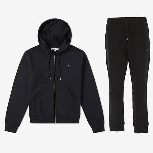 MCQ Swallow Classic Tracksuit with White Logo - Black