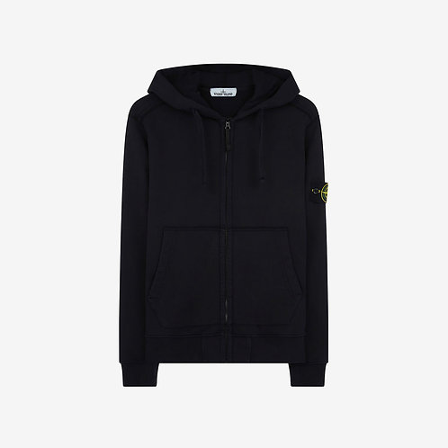 Stone Island Hooded Zip Sweatshirt - Navy Blue