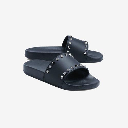 Valentino Studded Slides Navy Comfort Spring Summer 18 Pair