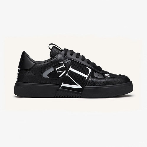 Valentino Low-Top Calfskin VL7N Sneaker with Bands - Black