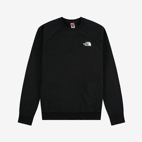 North Face Raglan Redbox Sweatshirt - Black with Sherpa Print