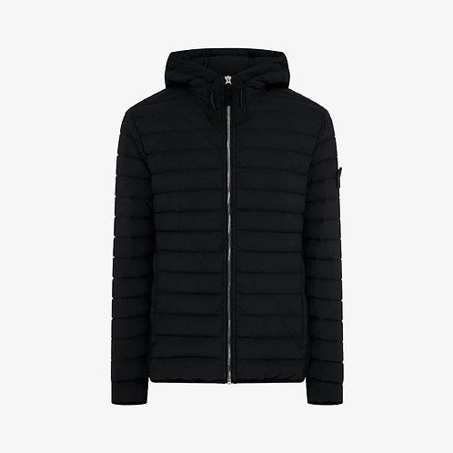 Stone Island Stretch Nylon Hooded Down Jacket - Black