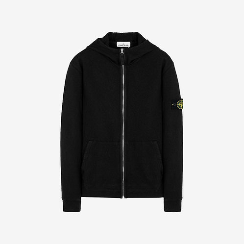 Stone Island 'Old Dye Treatment' Hooded Zip Sweatshirt - Black