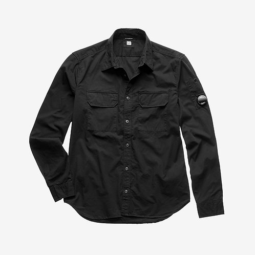C.P. Company Gabardine Long Sleeve Shirt - Black