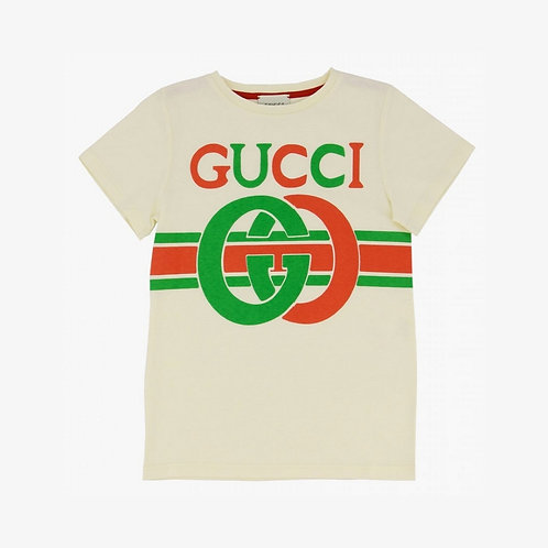 Gucci Kids Interlocking G T-Shirt - Beige