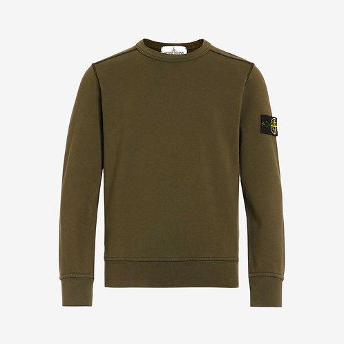 Stone Island Junior Crew Sweatshirt - Khaki Green